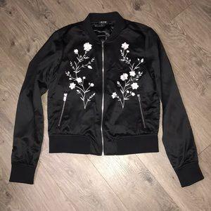 Black Polyester, a.n.a. Full zip jacket
